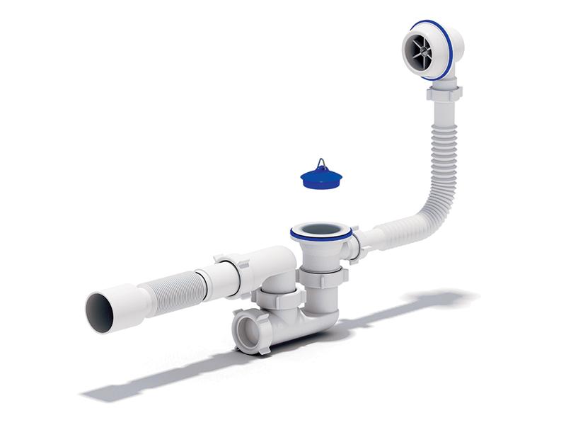 Сифон регулируемый с выпуском и переливом Ани Варяг С6255 для подключения ванны.