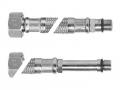 Гибкая подводка гайка штуцер 1/2 для смесителя в стальной оплетке с коротким и длинным окончанием