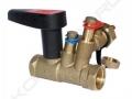 Ручной балансировочный клапан Ballorex Venturi с дренажом для ограничения расхода в системах отопления, охлаждения и вододоснабжения.