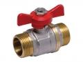 Кран шаровый наружная/наружная резьба ручка-бабочка SlovARM для установки на трубопроводах как запорное устройство.