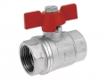 Кран шаровый KM1, KM2, KM3, KM4, внутренняя/внутренняя резьба ручка-бабочка для установки на трубопроводах как запорное устройство.