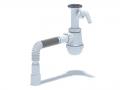 Сифон для стиральной машины Ани Грот А2015 с отводом для слива для подключения мойки с гибкой трубой 40x40/50