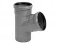 Нестандартные тройники для канализации 67° градусов полипропиленовый ПП канализационный фото