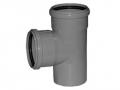 Тройник канализационный Т образный 87° (90°) полипропиленовый, канализационные тройники фото