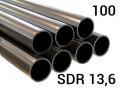 Труба полиэтиленовая ПЭ 100, PN12,5, SDR13,6 напорная для наружного водопровода для транспортировки холодной воды под напором.