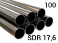 Полиэтиленовая труба для воды ПЭ 100, PN9,5, SDR17,6 напорная для наружного водопровода для транспортировки воды под напором.