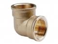 Угольник резьбовой латунный внутренняя/внутренняя резьба для изменения направления трубопровода.