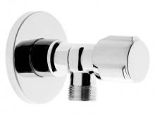 Кран угловой вентильный (грибковый) с отражателем хромированный ручка сбоку