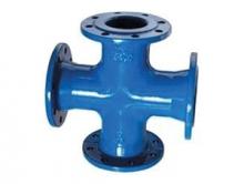 Крестовина чугунная фланцевая для присоединения дополнительных веток трубопроводов.