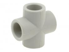 Крестовина полипропиленовая крест ПП для воды водоснабжения отопления фитинг из полипропилена
