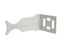 Кронштейн крепление угловой для алюминиевых и биметаллических радиаторов к стене.
