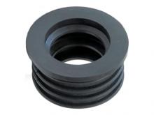 Манжета переходная канализационная резиновая трехлепестковая, переход на чугун 50 и 110 мм, с пластика на чугунную трубу