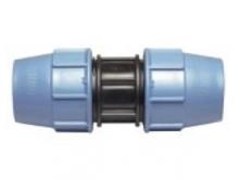 Муфта соединительная полиэтиленовая ПЭ-ПЭ компрессионная для наружного водопровода для соединения двух концов трубы.