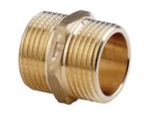 Ниппель латунный PN10 для соединения двух веток трубопровода с внутренней резьбой.