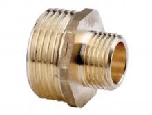 Ниппель переходной латунный редукционный для соединения двух веток трубопровода разного диаметра.