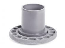 Патрубок гладкий  втулка ПВХ с фланцем PN10 для напорного водопровода напорный для соединения фланца и трубы ПВХ для водопровода.