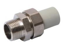 Разборное соединение наружное резьбовое с наружной резьбой полипропиленовое ПП для воды водоснабжения отопления фитинг из полипропилена