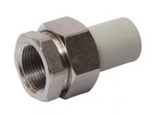 Разборное соединение внутреннее резьбовое с внутренней резьбой полипропиленовое ПП для воды водоснабжения отопления фитинг из полипропилена