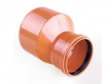 Редукция ПВХ канализационная, для наружной канализации
