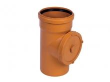 Ревизия прочистка канализационная рыжая ПВХ для наружной канализации