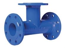 Тройник чугунный фланцевый для подсоединения дополнительных веток трубопроводов.