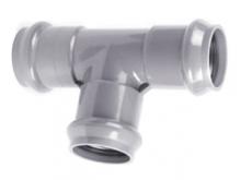 Тройник ПВХ напорный раструбный (три раструба) PN10 для напорного водопровода для подключения дополнительной ветки трубопровода.