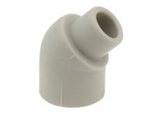 Угольник отвод 45° градусов внутренний/наружный полипропиленовый ПП для воды водоснабжения отопления фитинг из полипропилена