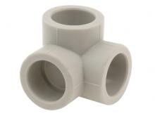 Угольник тройной полипропиленовый ПП для воды водоснабжения отопления фитинг из полипропилена