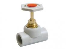 Вентиль проходной полипропиленовый ПП для воды водоснабжения отопления фитинг из полипропилена