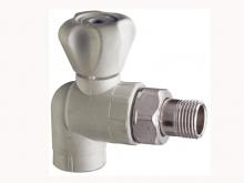Вентиль кран радиаторный полипропиленовый угловой для радиатора отопления ПП для воды водоснабжения отопления фитинг из полипропилена