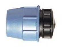 Заглушка полиэтиленовая ПЭ компрессионная для наружного водопровода для перекрытия подачи воды.