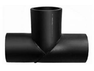 Тройник полиэтиленовый ПЭ100 Ру10 напорный сварной фланцевый для холодного полиэтиленового водопровода