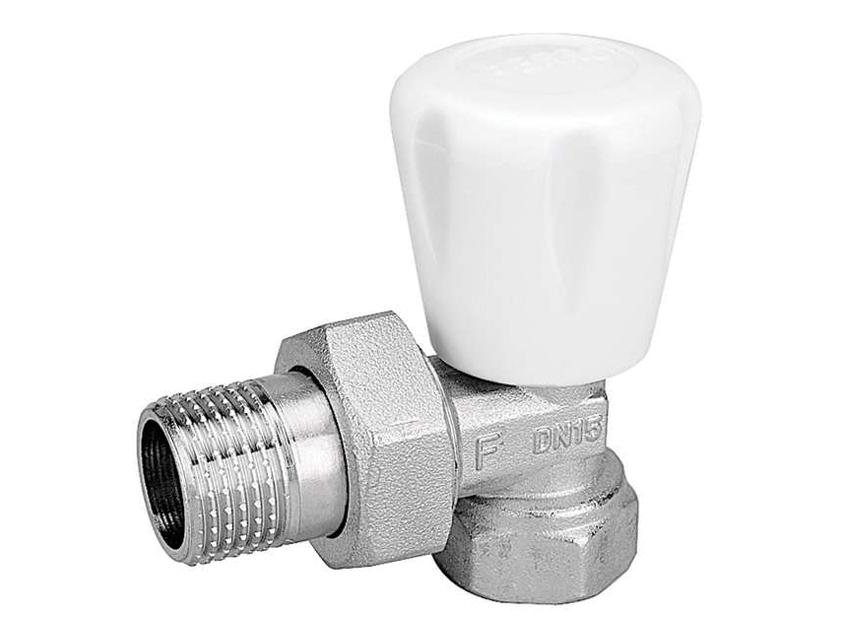Вентиль радиаторный (кран запорный) угловой ручного регулирования